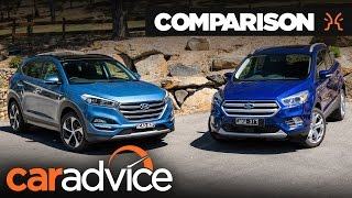 Hyundai Tucson Highlander v Ford Escape Titanium comparison | CarAdvice
