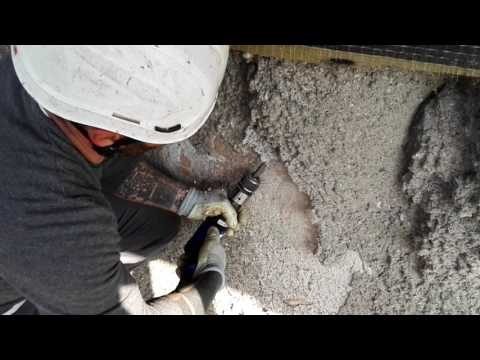 Campanile di Reno Centese - Saggio asportazione spritz beton consolidamento provvisorio 5 di 5