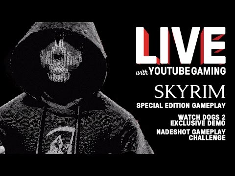 Live! with YouTube Gaming Episode 4:  Nintendo Switch, Red Dead 2, Skyrim Special Edition