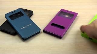 ОБЗОР: Модный Кожаный Чехол-Книжка для Samsung Galaxy A5 A500H/DS с Окошком