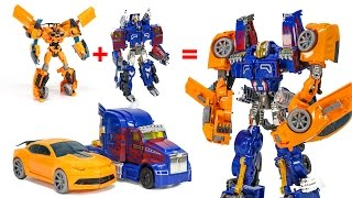 Transformers AOE Optimus Prime + Bumblebee Combiner Robot Vehicle Track Robot Car Toys