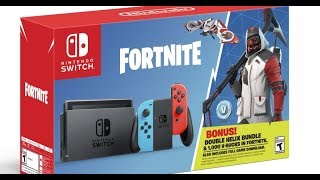 Fortnite Nintendo Switch Unboxing + Double Helix Skin Gameplay
