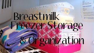 My Breast Milk Freezer Storage + Organization