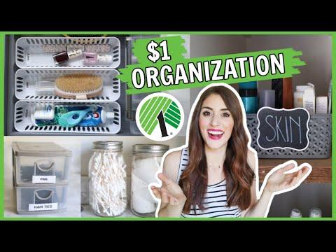 CHEAP $1 BATHROOM ORGANIZATION   Dollar Tree Storage And Organization Ideas For Small Bathrooms