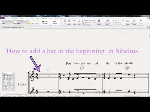 How To Add A Bar At The Beginning in Sibelius 2018