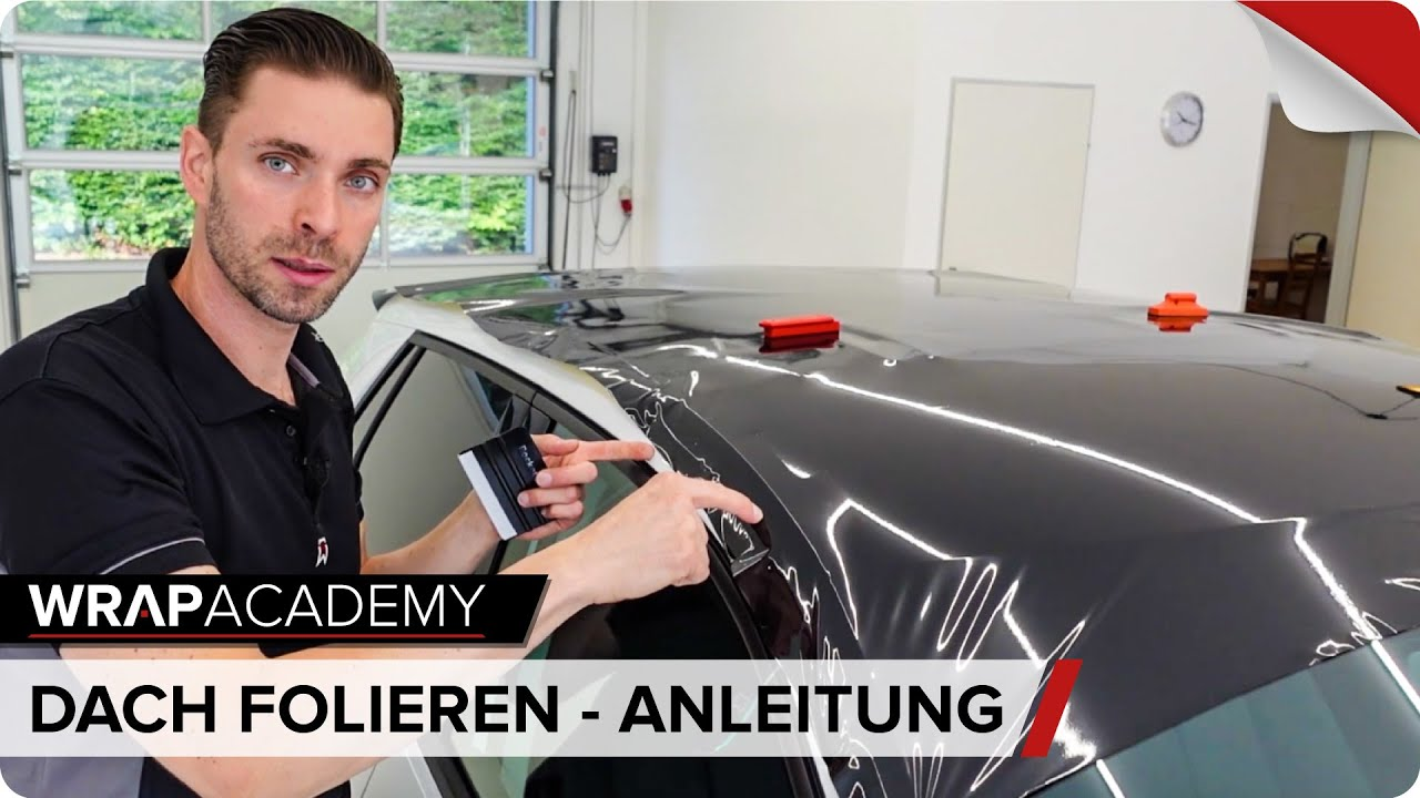 Dachfolierung Mit Carbonfolie Anleitung Roof Wrapping Carbon Step By Step Youtube