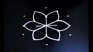 Easy 5X3 dots rangoli   Astadala Padmam   Pooja kolams   Pooja muggulu   Daily rangoli