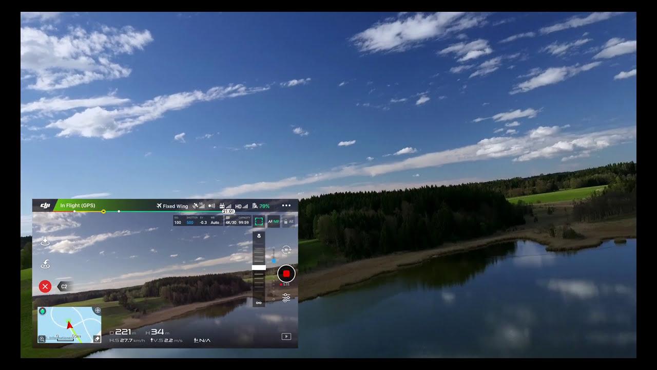 How To Use Fixed Wing Mode Dji Mavic Pro  Atti Bear 04:04 HD