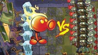 Plants Vs Zombie 2 battlez - Wall Nut and pea vs all Zombies
