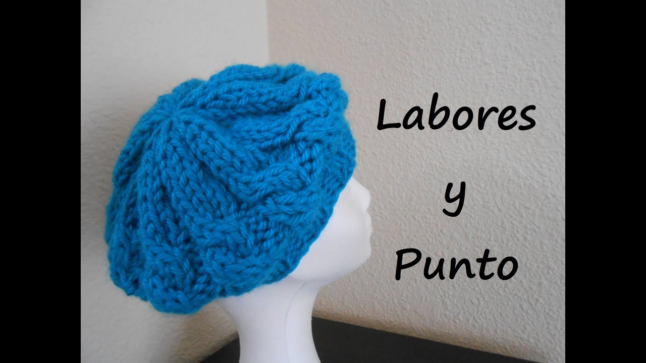 Aprende a tejer una boina en dos agujas youtube - Labores de punto de lana ...