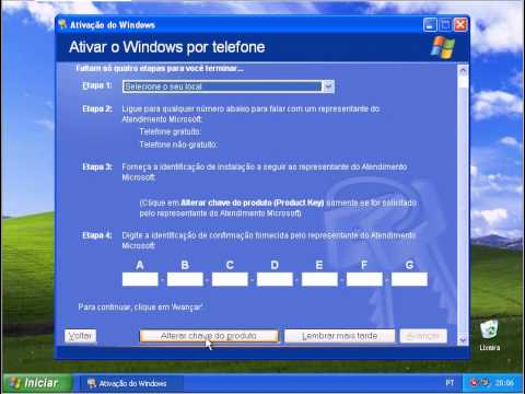 Validando o Windows XP   profissional.wmv