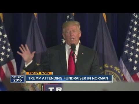 Donald Trump attends fundraiser in Norman, Oklahoma
