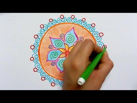 how to make rangoli drawing