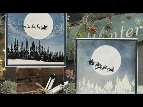 Diy Weihnachten 2019.Lablanche Diy Christmas Silhouettenstempel 2019 Youtube