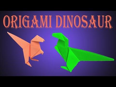 How To Make Origami Dinosaur - Jurassic Park; Jurassic World DIY Dinosaur
