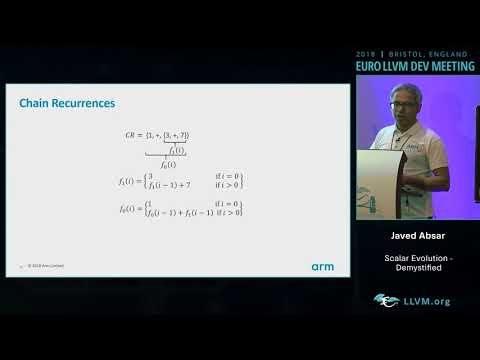 "2018 EuroLLVM Developers' Meeting: J. Absar ""Scalar Evolution - Demystified"""
