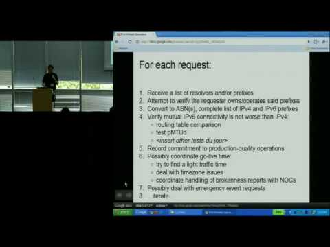Google IPv6 Implementors Conference: State of the IPv6 Internet & Transition Mechanisms and Tools