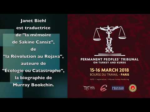 Author Janet Biehl endorses the Permanent Peoples' Tribunal on Turkey and the Kurds