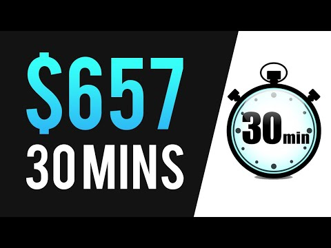 EARN $657 IN 30 MINUTES with AFFILIATE MARKETING! (Work From Home 2020)