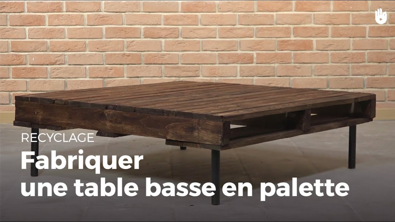 Gut bekannt Fabriquer une table basse en palette | Recycler - YouTube ZF44