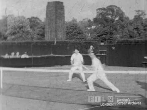 Tennis practice and Centre Court at Wimbledon 1938