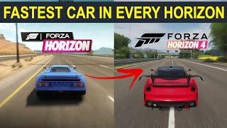 FASTEST Car In Every Forza Horizon 1,2,3,4 l Evolution of Fastest Car in Forza Horizon 1-4
