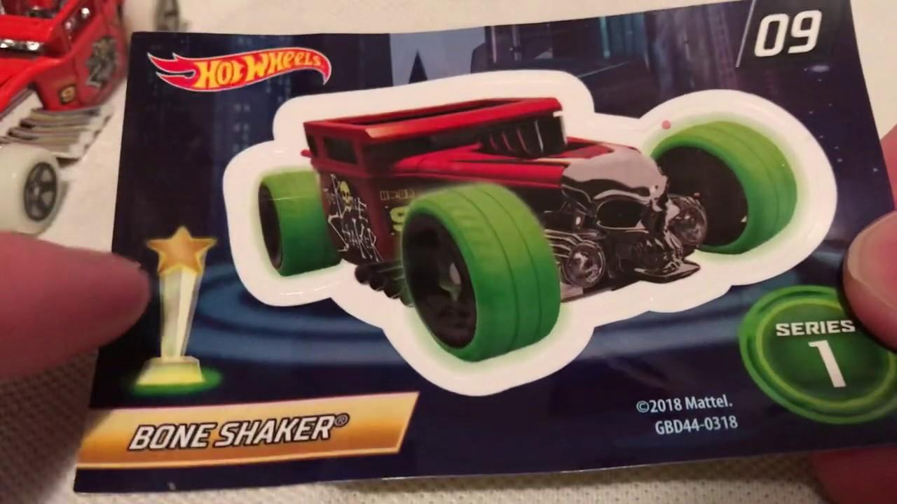 Hot Wheels Bone Shaker (2019 Mystery Models Series 1 - Glow-In-The-Dark! | Gold Chase!)
