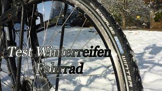 Test Winterreifen Fahrrad