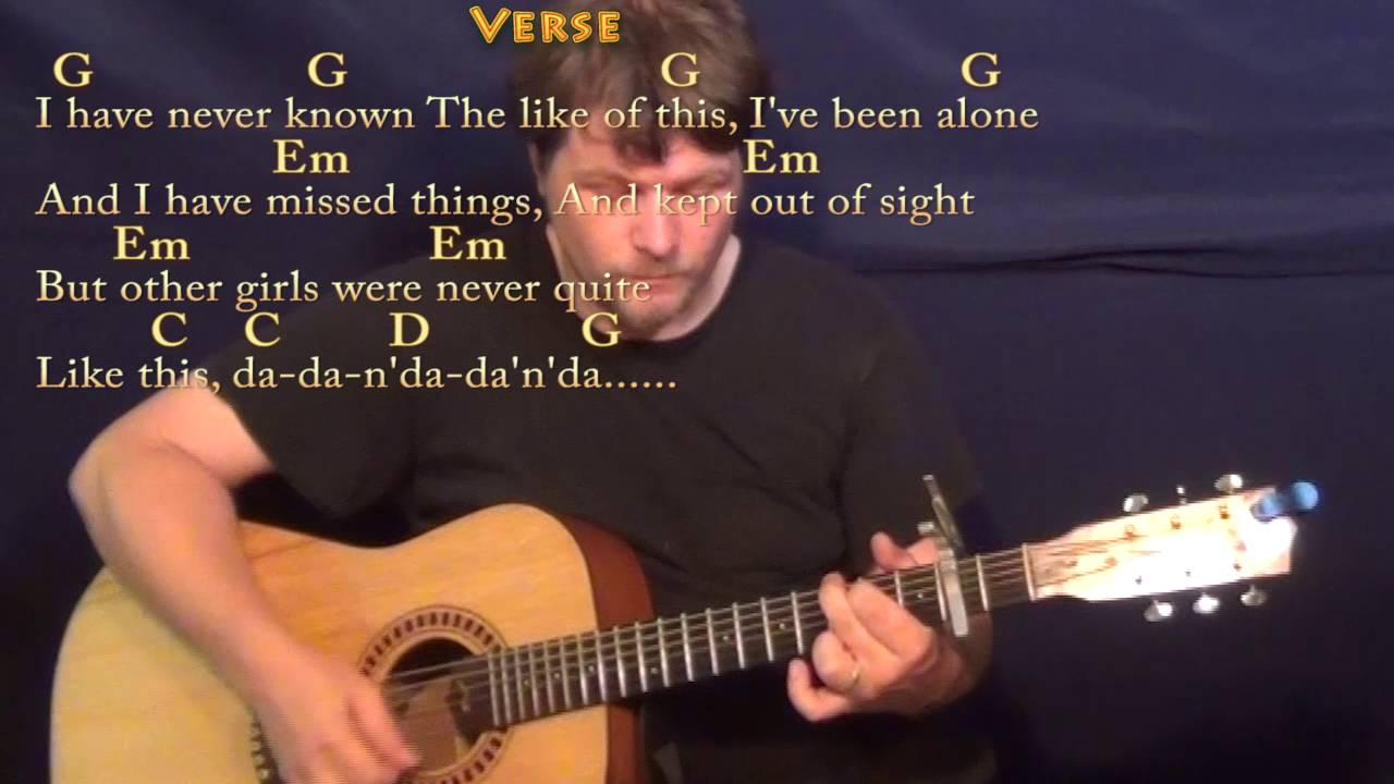 Ive Just Seen A Face Beatles Guitar Lesson Chord Chart With On