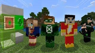 TOP 5 HERÓIS ADDON, SHAZAM, FLASH, SUPERGIRL, ARROW NO MINECRAFT PE ! (Minecraft Pocket Edition)