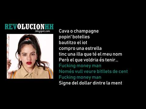 ROSALÍA - F*cking Money Man LETRA (Milionària + Dio$ No$ Libre Del Dinero)