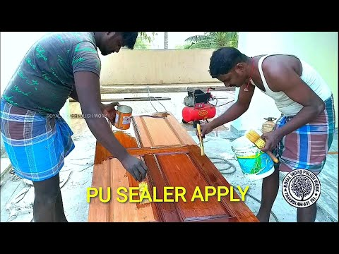 P.U. SEALER APPLY | 1st coating | Royal Wood Polish Work | Thakkolam Tamilarasu