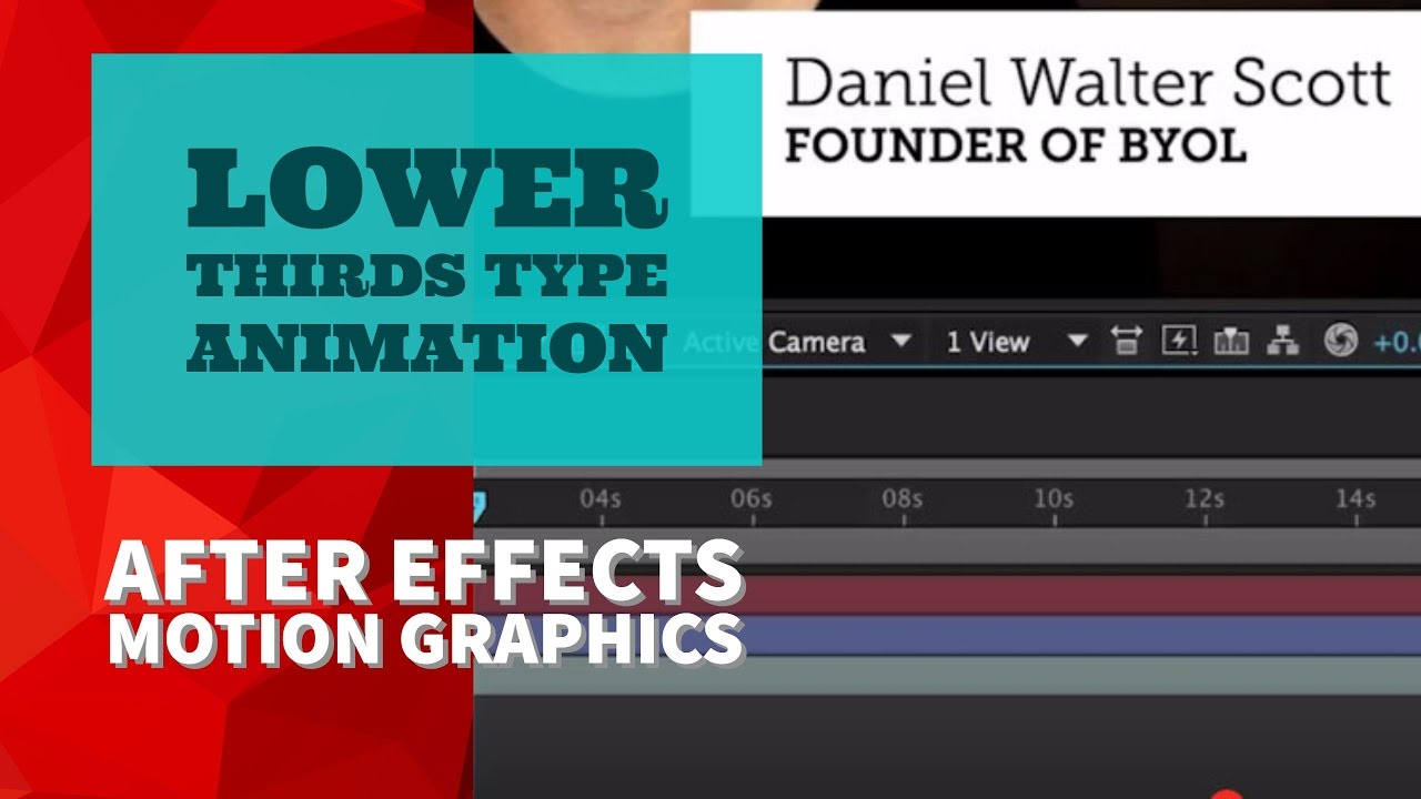 16/51 | Lower thirds type animation in Adobe After Effects