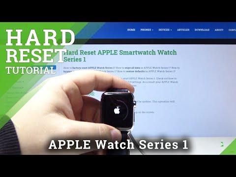 How To Hard Reset APPLE Smartwatch Series 1 - Bypass Passcode