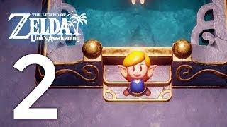 Zelda: Link's Awakening - Dungeon 3 + Color Change Quest - Gameplay Walkthrough Part 2