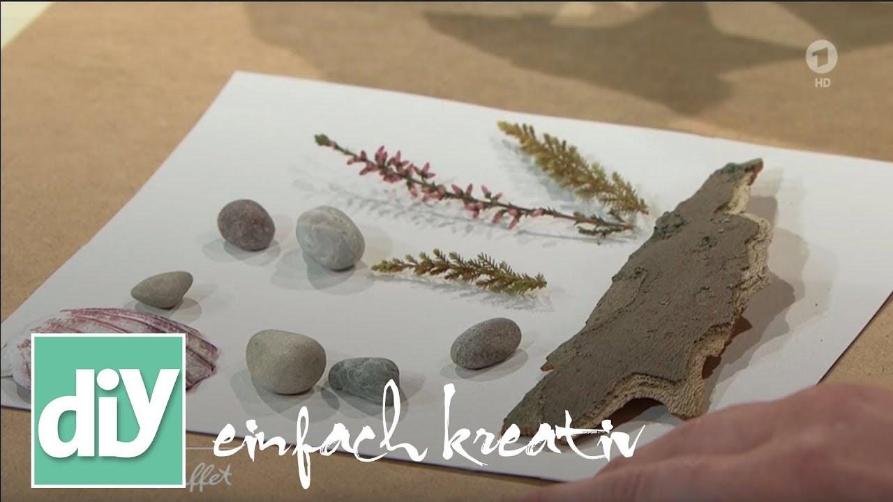 Gerahmte Steinbilder Diy Einfach Kreativ Youtube