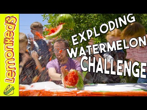 How to make a Watermelon EXPLODE - EXPLODING WATER MELON CHALLENGE - LemonReds S2 Episode 5