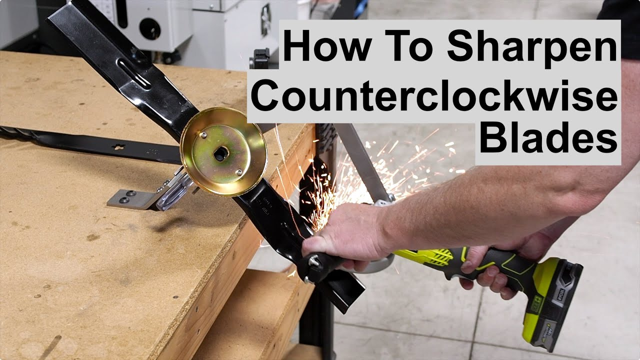 Sharpening Counterclockwise or Left Hand Mower Blades in the All American Sharpener