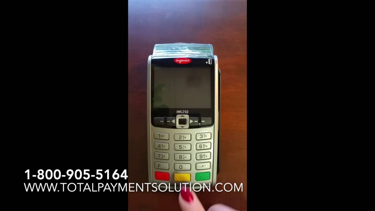 How to turn on and off the Ingenico IWL255