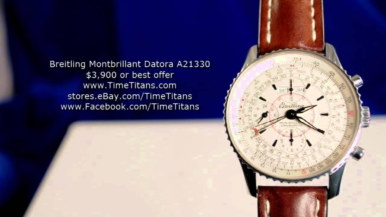 Breitling Navitimer Montbrillant Datora White A21330
