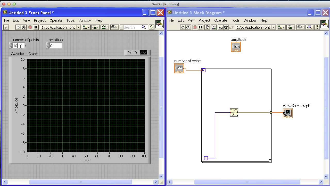 Sine Wave Graph in Labview mp4