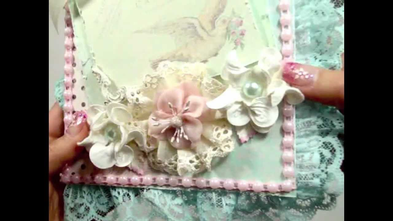 Shabby Chic Book Cards YouTube