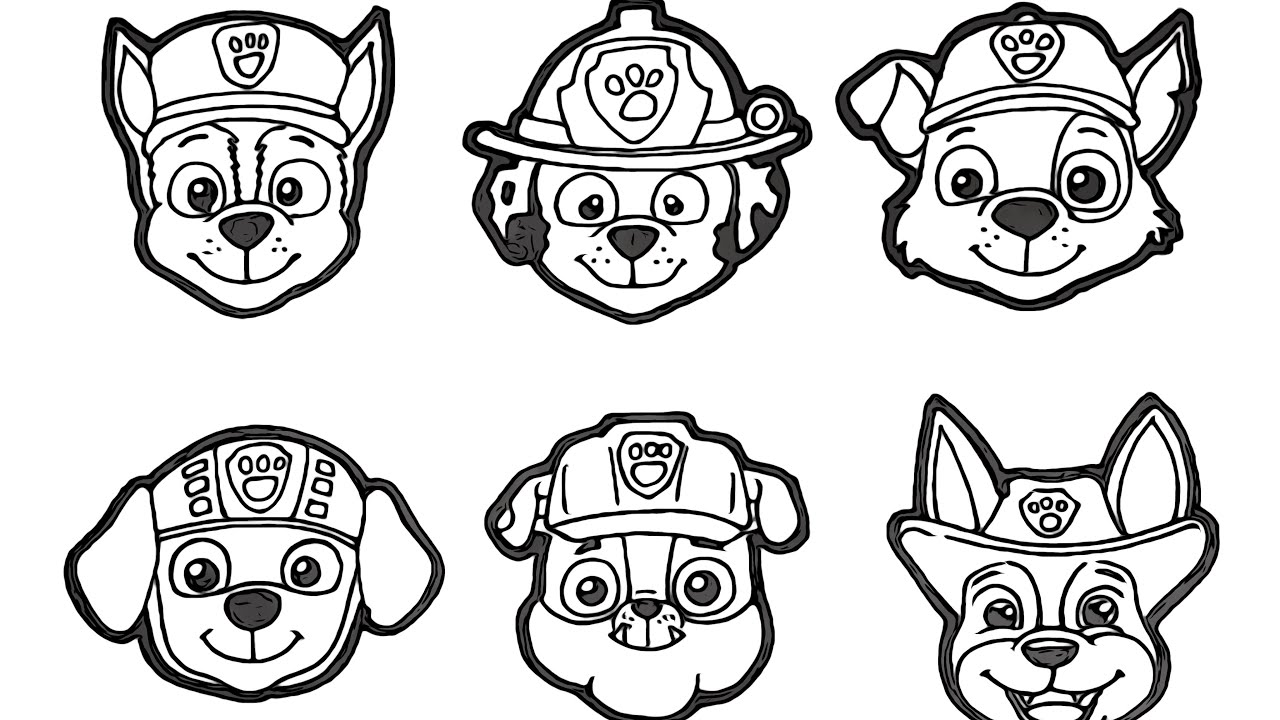 - Paw Patrol Coloring Book How To Draw Paw Pups For Kids Chase