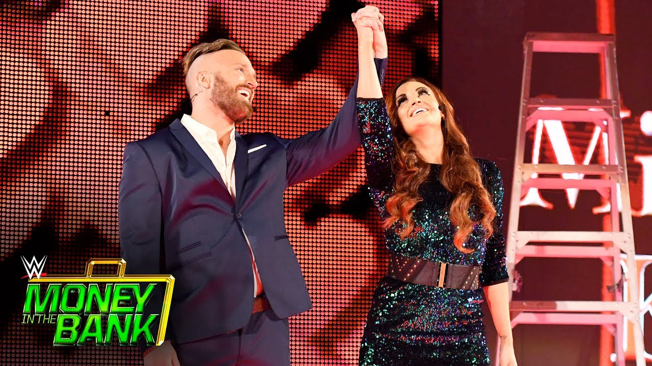 "Mike & Maria Kanellis arrive with the ""power of love"": WWE Money in the Bank 2017 (WWE Network)"