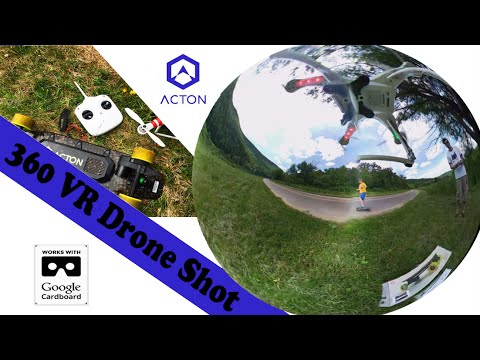 360° VR Drone Flight Video - Skating the Acton Blink Board