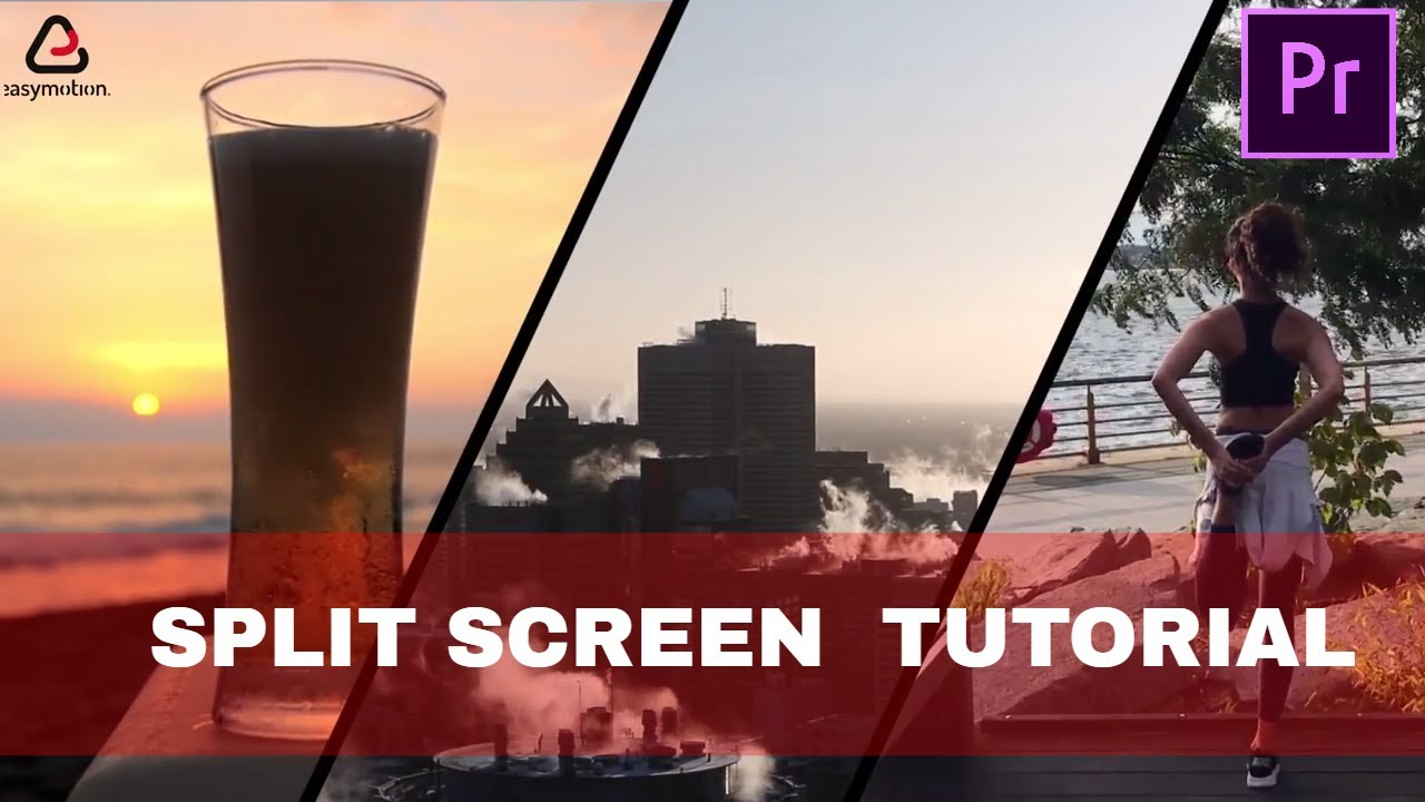 Adobe Premiere Pro CC Quick and easy Tutorial : how to make SPLIT SCREENS