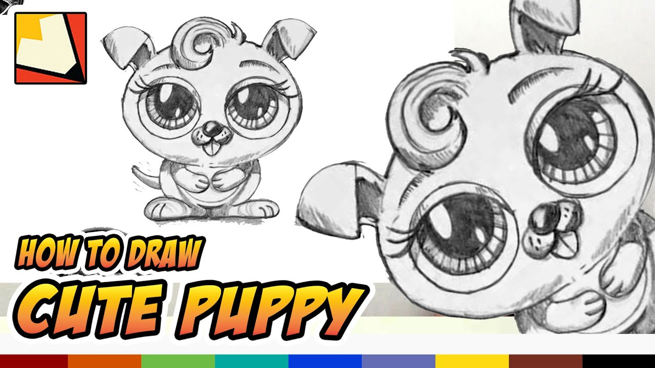 How to Draw a Cute Puppy Narrated Easy Art for Kids BP
