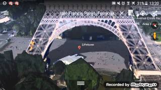 Eiffeltower and Tokio Tower Google Earth 2015