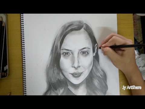 Gal Gadot | Pencil Portrait | 盖尔·加朵 | 素描 | How To Draw |