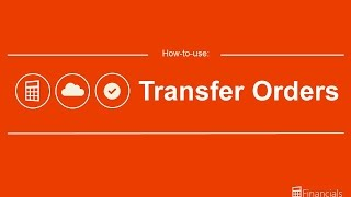 How to Use Transfer Orders